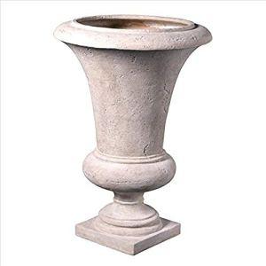 Design Toscano Viennois Vase décoratif, Résine, Ivoire, 72,5 x 72,5 x 103 cm