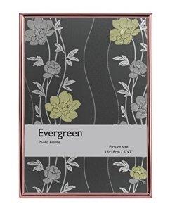 Evergreen Bord Fin de Cadre pour Photo 20,32x 25,4cm, Argent, Or Rose, 20,32x 1x 25,4cm, Argent, Rose Gold, 12.7 x 1 x 17.78 cm