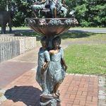 H. Packmor GmbH Fontaine en bronze pour femme 75 x 185 x 75 cm