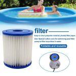 Hearthrousy Cartouche de filtre de rechange type H pour piscines Compatible avec pompe à filtre Numéro d'article : 28601/28602