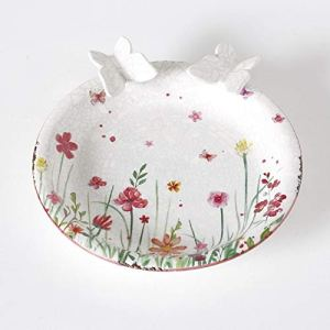 Home Collection Meubles Décoration Jardin Terrasse Fonta Birdhouse pour Oiseaux Motif Papillons Fleurs