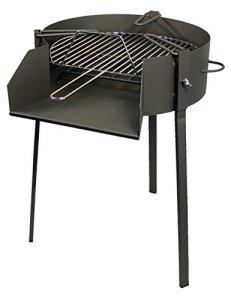 IMEX EL ZORRO 71580–Barbecue rond avec support pour poêle à paella 50 x 75 cm