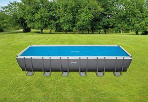 Intex Bâche solaire pour piscine rectangulaire 732 x 366 cm bleu
