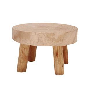 JIESD-Z Mini tabouret décoratif rond en bois, support de plantes en bois naturel, pot de fleurs, tabouret de jardinage, décoration intérieure vintage, hauteur 8,9 cm