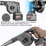 kaige Ventilateur, 21V Lithium-ION sans Fil Ventilateur brushless Souffleur à Main soufflage et Couilles Convient for la Voiture intérieure et extérieure WKY (Size : 41800H2battery)