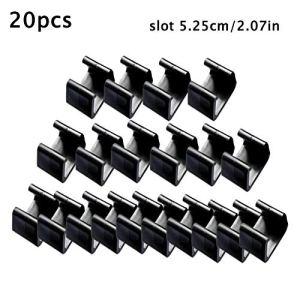 Lot de 20 clips en osier pour meubles de jardin – Pour canapés et chaises de jardin – 4,25 cm/5,25 cm/6 cm