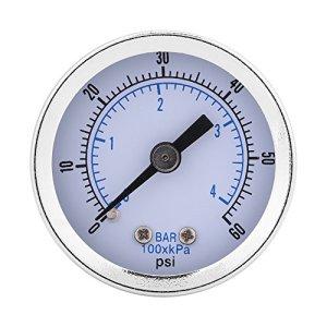 Manomètre, 0-60psi 0-4bar 1/8″BSPT Jauges de Pression pour Air Huile Eau