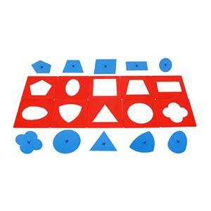 Miki-ZBaby Toys Montessori Materials Ensemble de Plaquettes métalliques de qualité Professionnelle