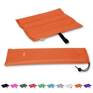 Mister Mountain® Outdoor Iso-Sitzkissen Leicht Faltbar Und Waschbar. Thermokissen, Sitzmatte (Orange)