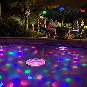 mmilelo glühen Multicolore étanche sous l'eau flottante Lampe clignotante Bain Bassin piscine spa Jacuzzi Veilleuse pour intérieur et extérieur Party tion