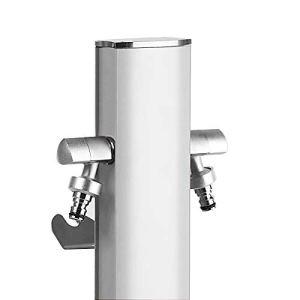 M&M's S&M Totem Colonne d'eau de Jardin avec Support pour 2 robinets Aquapoint, Blanc