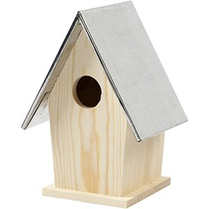 Nichoir avec toit en zinc, 13,5x11x19 cm, traité, 1 pièce