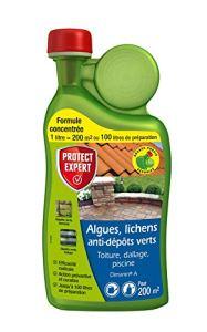 PROTECT EXPERT DIMA1N Algues Lichens, Anti-Dépôt Vert 1L, Jusqu'à 200 m² traités