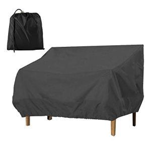 Relax love Housse de canapé de Jardin étanche à la poussière et aux UV pour Meubles d'extérieur Patio Salon Banc Causeuse 210D M-193 * 83 * 84CM Noir
