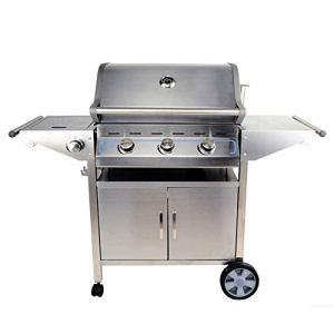 SLRMKK Barbecue Grill, Barbecue à Charbon Portable Combustible Dual Fuel Combination Barbecue à Charbon de Bois/à gaz (49 23,8 46,4 Pouces)