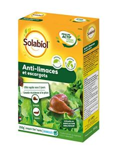 Solabiol SOLIMA350 Anti-Limaces et Escargots Granules d'Origine Naturelle, 0.35 Liters L, Bleu, 14 x 5 x 20 cm