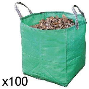 Spares2go jardinage déchets retrait Heavy Duty Sac (120litre, Lot de 100)
