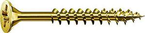 Spax–Vis universelle, tête fraisée, cruciforme Z, 4Cut, filetage partiel, zingué jaune passivé, A2L–0291020350305, 1081020601205
