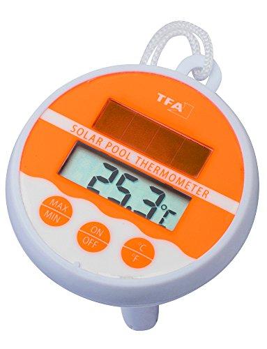 TFA Dostmann Thermomètre de piscine de piscine de contrôle de la température neonorange 30.1041.13