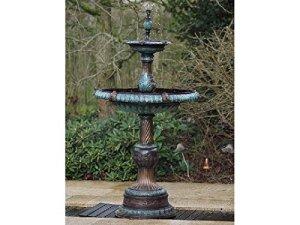 Thermobrass Bronzespresso Fontaine avec Deux bacs Fontaine décorative de Jardin