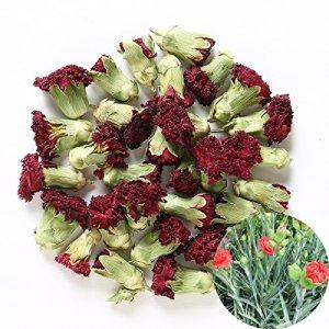 TooGet Fleurs Naturelles D'oeillet Parfumées Fleurs Organiques De Dianthus Séchées en Gros, Catégorie Supérieure – 115g