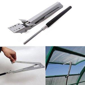 Welinks en acier carbone Serre fenêtre Système d'aération automatique Opener, sensible à la chaleur solaire pour fenêtre de toit pour radiateur Vent Opener Standard- Soulève 6,8kilogram