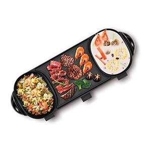 XWX Multifonctionnel Hot Pot Shabu-shabu Grillé Un Pot Électrodomestiques Grill Électrique Grill Fer Pan Coréenne Plaque Barbecue Machine Pot