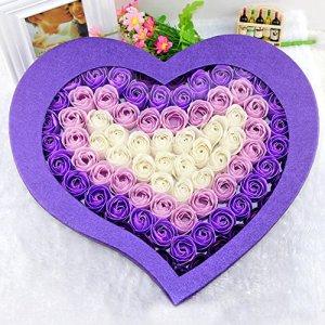 yheng 99Stk Fleurs Artificielles Savon Fleur pour maison décoration Hôtel décoration décoration de mariage et Saint Valentin Cadeau Créatif anniversaire cadeaux lilas