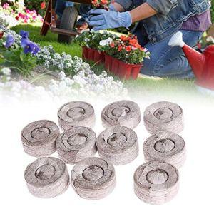 100 Count- Jiffy 30 MM Pellets de sol de tourbe Graines Bouchons de démarrage, Démarreur de semences d'intérieur Plantation à l'intérieur pour la transplantation dans le jardin ou le pot de jardinière