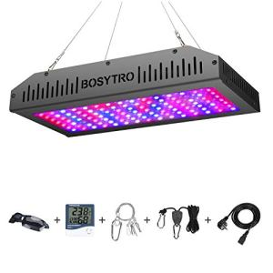 1200W Double interrupteur de la série de plantes LED pour plantes d'intérieur Lampe de serre à spectre complet LED pour fleurs végétales avec thermomètre réglable Puissance(Double puce 120Pcs LEDs)