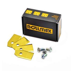 30 couteaux Bollmex en titane Lames de 0,75 mm avec 30 vis compatibles avec la tondeuse robot Husqvarna Automower Gardena 105 310 315 320 420 430x r40i et autres (durable)