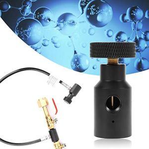 Adaptateur de recharge marche/arrêt de réservoir de résistance à l'usure noir léger pour réservoir de CO2 21 * 4 filetage 1 / 8npt Port fileté