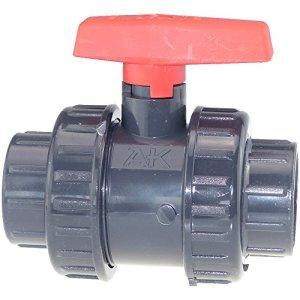 AK PVC Robinet à boisseau sphérique Manchons à coller (25jusqu'à 90mm) 63 mm PVC