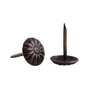 Akozon 100pcs Attaches Vintage Tapisserie d'ameublement Nails Bronze Métal Tags Meubles Canapé Porte De Chaussure Décoratif Tack Stud(11.2 * 16.6mm)