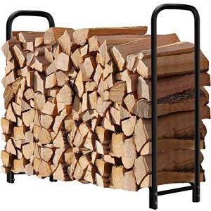 Amagabeli Support à Bois de Chauffage 1,2m Long Porte-bûches de cheminée Porte-bûches extérieur pour Bois de Chauffage Support de Stockage de Bois de Chauffage Support de Journal de cheminée