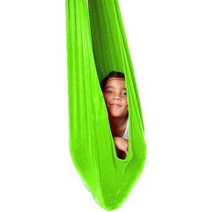 Balançoire à suspendre pour enfants Autisme, TDAH et SPD – Effet calmant sur les enfants ayant besoin de matériel inclus avec une balançoire intérieure (couleur : vert, taille : 1 x 2,8 m)