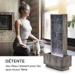 blumfeldt Imperia Grey Edition – Fontaine de Jardin décorative, Jeux d'eau, Intérieur et extérieur, Pompe de 10 W, Protection IPX8, Câble de 10m, LED, Métal galvanisé, Gris
