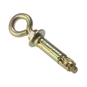 Boulon pour ma?onnerie avec oeil d'ancrage Forgefix EYE8M M8 – zinc jaune