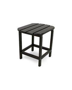 CASA BRUNO South Beach table d'appoint 48x38cm , polyéthylène PEHD, noir – résistance inconditionnelle aux intempéries