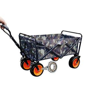 Chariot Pliable Lourds Panier avec grandes roues et armature en acier pliable 110 kg Pour Jardinage Avec (Color : As Shown, Size : 90x51x100cm)