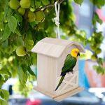 chengong Cage à Oiseaux, nids d'oiseaux, décoration en Bois de Fabrication Fine étanche à l'humidité pour l'ornement Cage Garden Bird Feeding