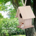 chengong Nichoir, Maison d'oiseau en Bois, pelouse étanche à l'humidité pour Perruche Africaine de Jardin