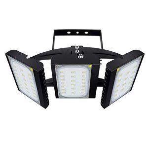 CHICLUX 450W Projecteur LED extérieur pour Garage, 40500LM, 6000K (éclairage Blanc lumière du Jour) Projecteur de sécurité, Projecteur réglable pour granges, terrasses et Jardins