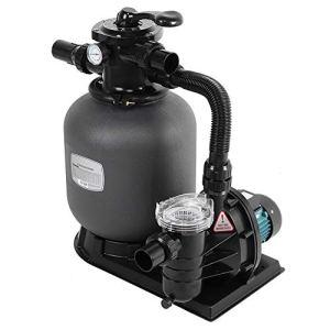 Cikonielf Filtre de piscine avec pompe à eau combinée 220 V, filtre à sable, peut être fixé au sol, pour le traitement de l'eau de piscine privée et de paysage, prise UE (prise européenne)