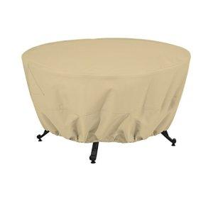 Classic Accessories 59902-ec Terrazzo une couverture complète pour foyer ronde 42 Inch sable