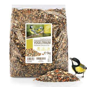 cœur d'animal sauvage | Graines pour Oiseaux Sauvages sans Blé [5kg] I Nourriture vivaces pour oiseaux I Graine Oiseaux Exterieur, Manger Oiseaux