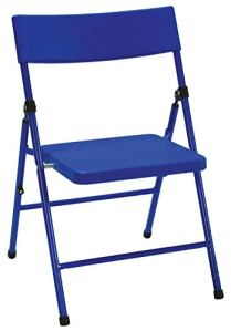 COSCO Pinch-Free Chaise Pliante pour Enfants, sans pincement, Bleue, Acier, 40 x 35,6 x 57,5 cm