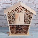 Cosiki Le Travail Manuel Encourage Les Insectes bénéfiques Bee House, Le nid d'observation des Insectes de Jardin, Les Insectes et Les Abeilles en Bois Naturel de Haute qualité