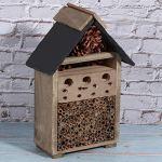 Cosiki Nidification d'insectes, Maison d'insectes Suspendue, Affichage de la Maison d'insectes en Bois de pin Naturel et de Haute qualité en Plein air