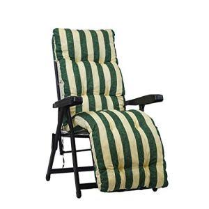 Coussin de rechange pour chaise longue avec repose-pieds, super rembourré, couleur: vert fantaisie
